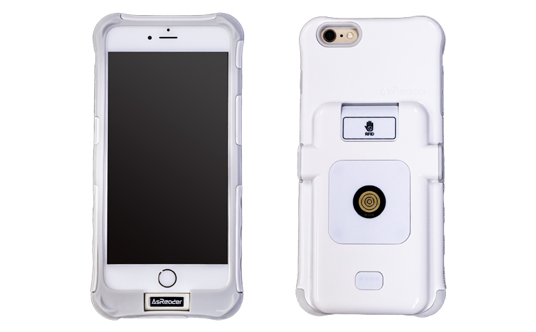 iPhone用装着型RFIDリーダー
