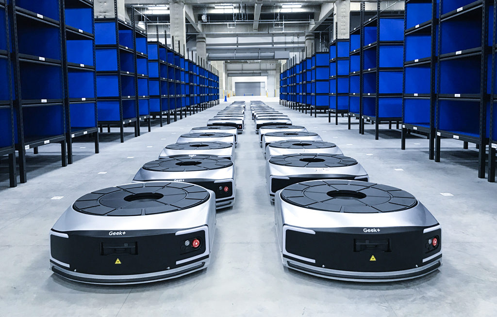 自動棚搬送ロボット EVE 導入事例02